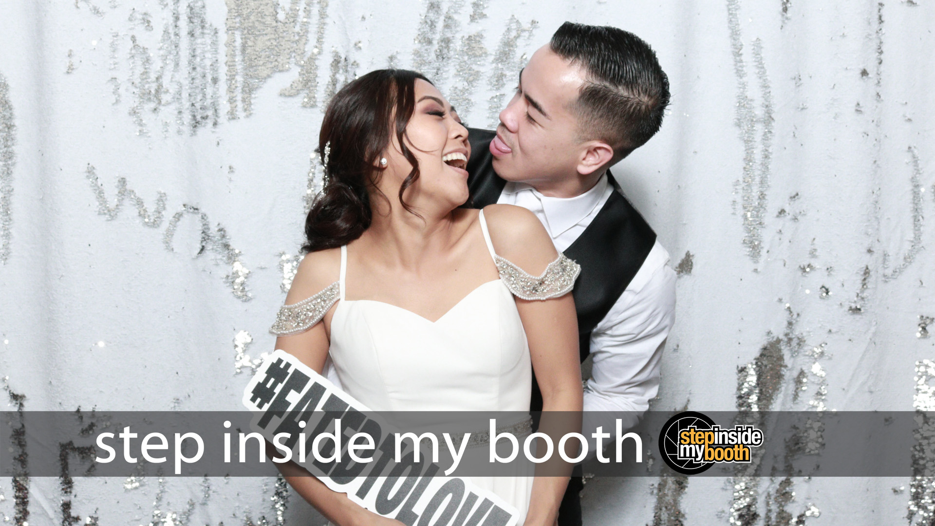 Photo booth rental in Glendale celebrating Fatima and Edward's Wedding in The Castaway.